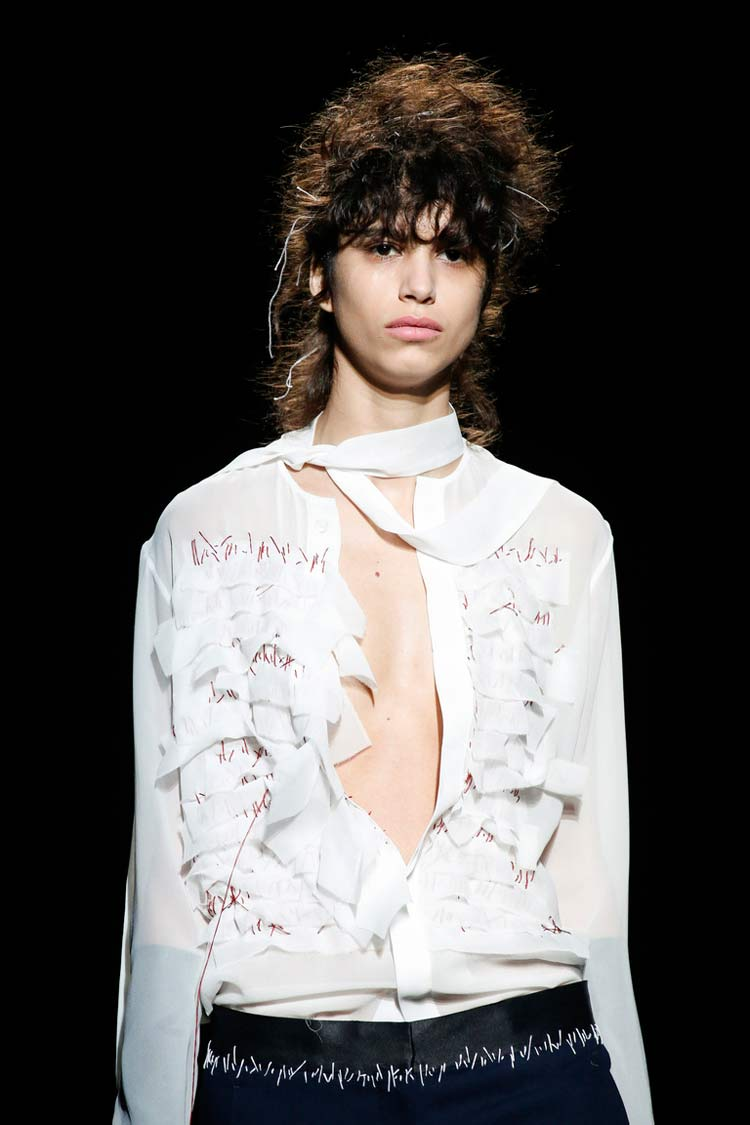 Модная блуза с шарфом весна-лето 2016