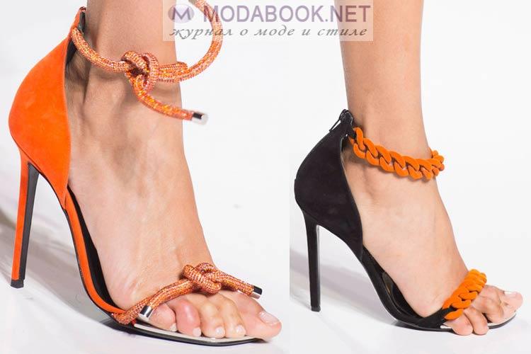 Летние босоножки с шнуровкой