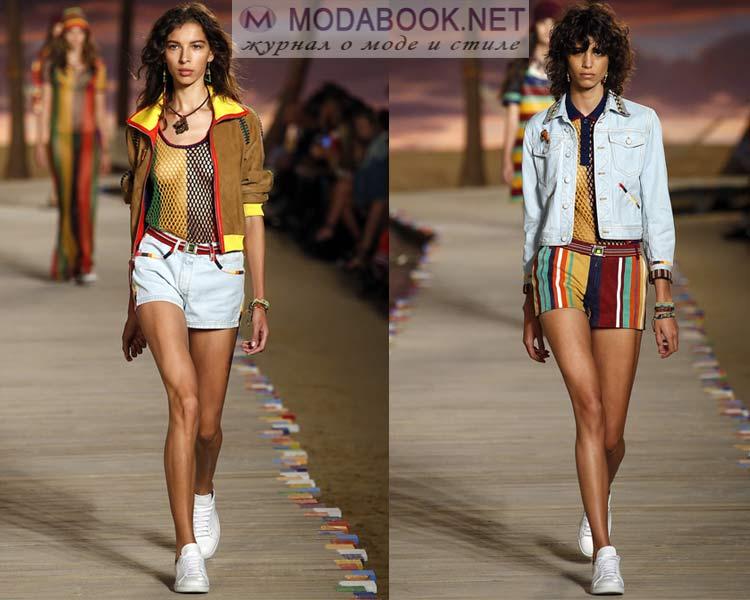 Джинсовые шорты с кедами на лето 2016