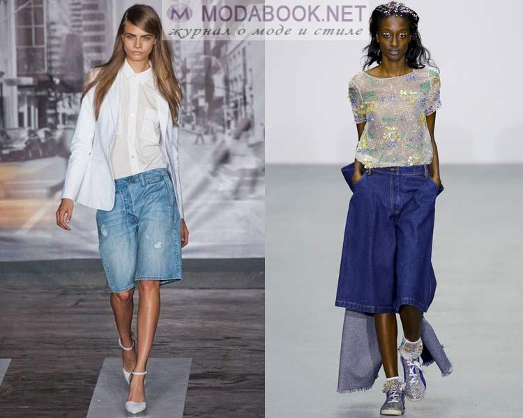 Длинные джинсовые шорты лето 2016