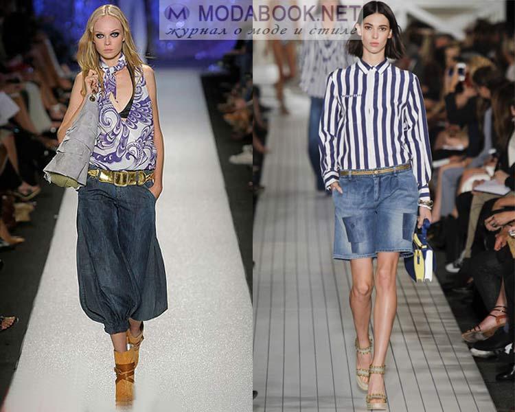 Модные модели джинсовых шорт на лето 2016