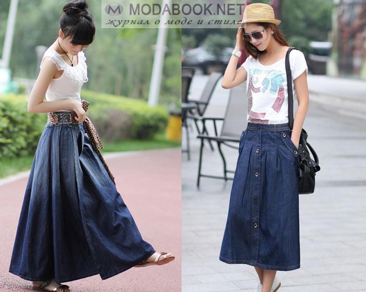 С чем носить джинсовую юбку летом 2016