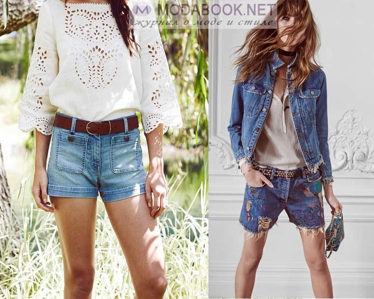 Летние джинсовые шорты 2016