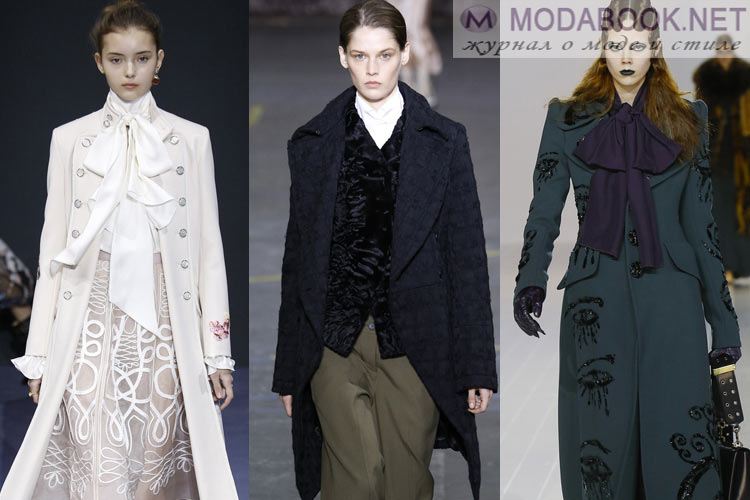 Мода осень-зима 2016-2017 широкие лацканы