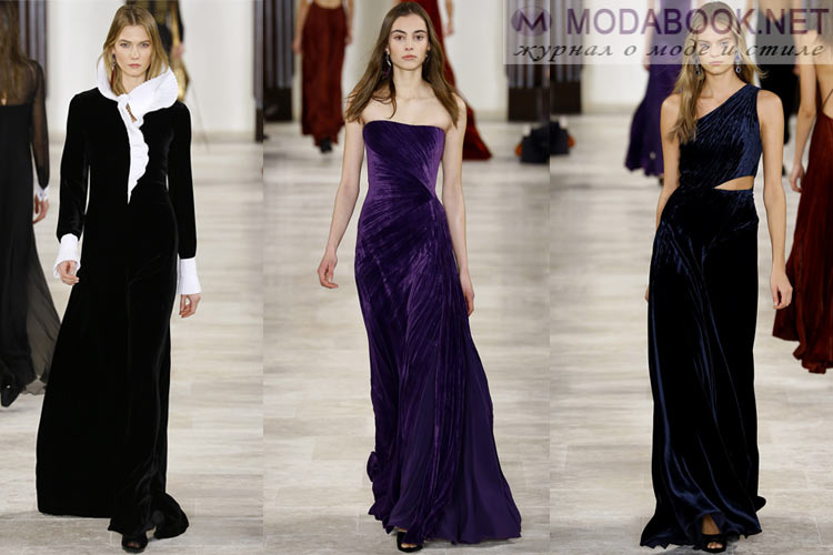 Мода осень-зима 2016-2017 бархат
