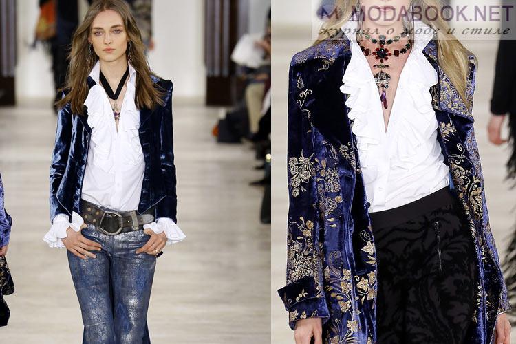 Мода осень-зима 2016-2017 ткани