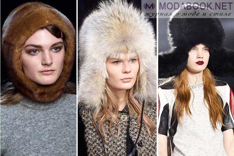 Мода осень-зима 2018-2019 меховые шапки