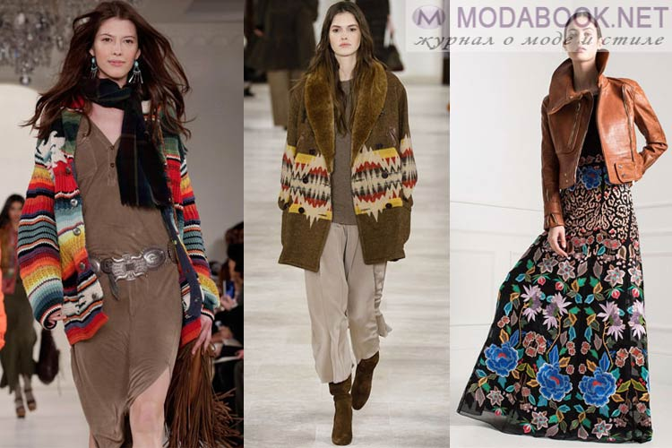 Мода осень-зима 2018-2019 этнический стиль