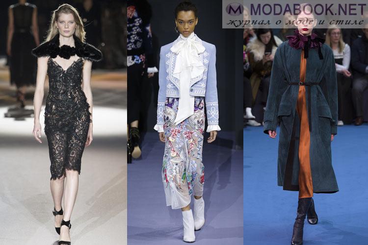 Мода осень-зима 2016-2017 викторианский стиль