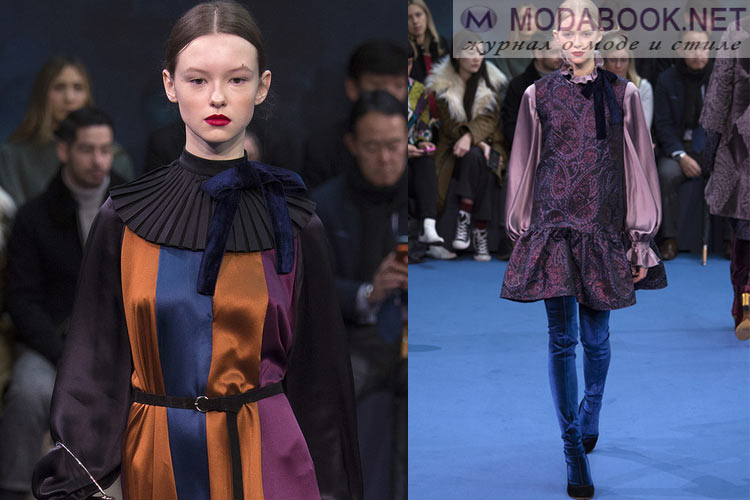 Мода осень-зима 2018-2019 викторианская эпоха