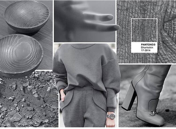 Модные цвета осень-зима 2016-2017 холодный серый (Sharkskin)