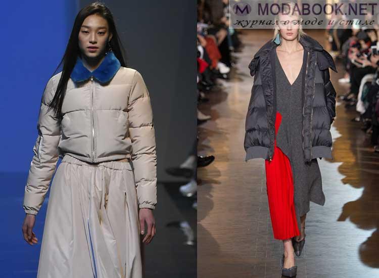 Модные куртки пуховики осень-зима 2017-2018
