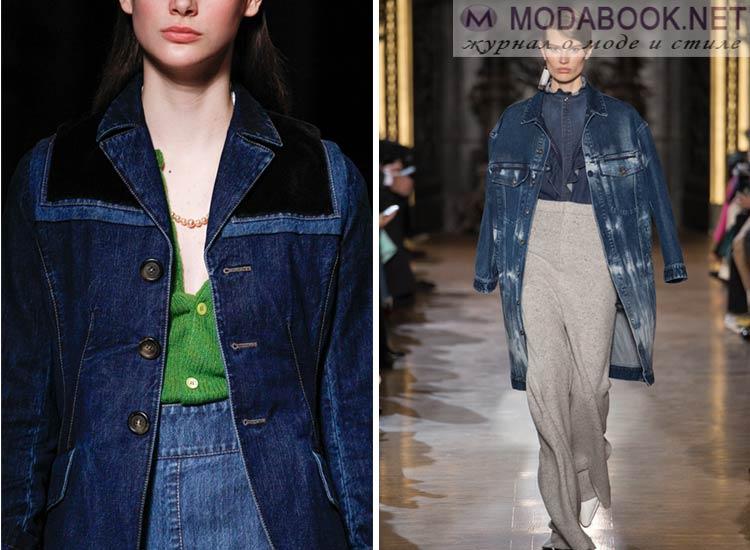 Модные куртки джинсовки осень-зима 2017-2018
