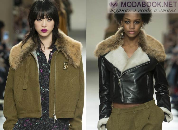 Модные куртки с воротником из меха осень зима 2016 2017
