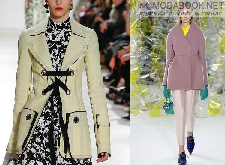 Модные женскик куртки осень зима 2017-2018 пастельных оттенков