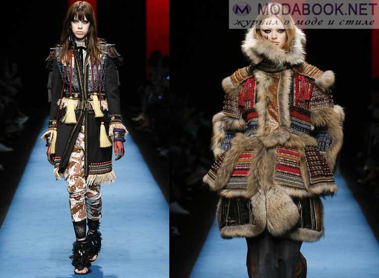 Модные куртки в этно стиле осень-зима 2017-2018