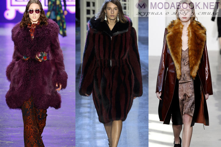 Мода на мех осень зима 2016-2017