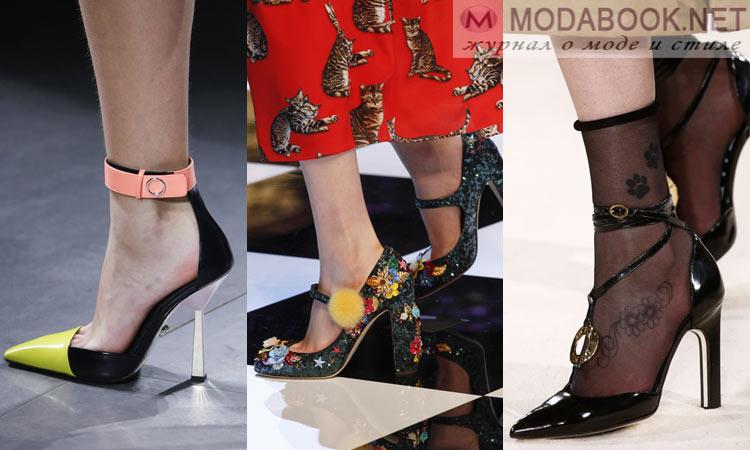 Модная обувь осень-зима 2016-2017: на высоком каблуке