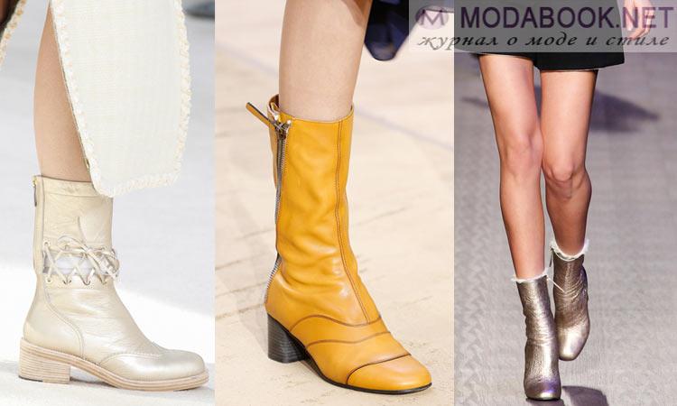 Модная обувь осень-зима 2016-2017: полусапожки