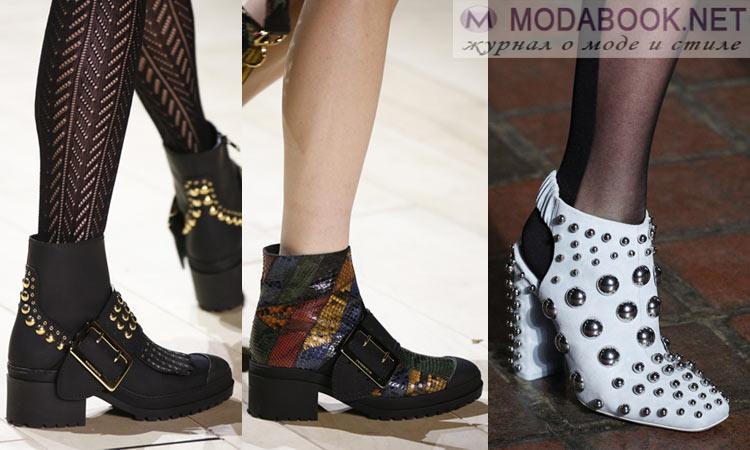 Модная обувь осень-зима 2016-2017: с металлической фурнитурой