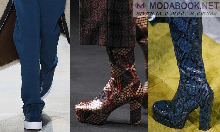 Модная обувь осень-зима 2016-2017: на платформе