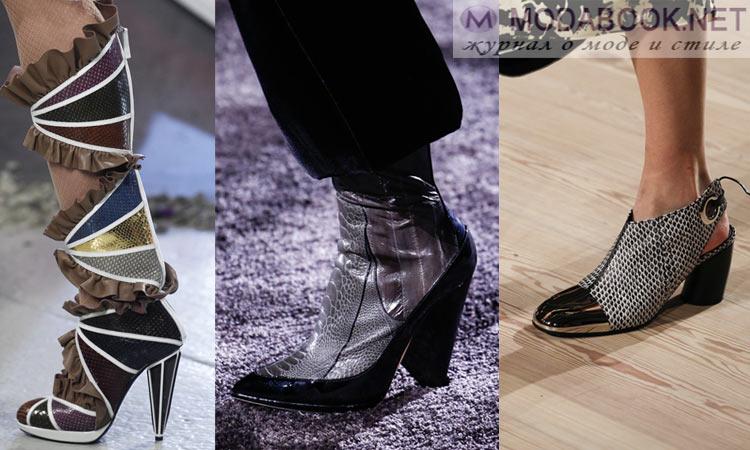 Модная обувь осень-зима 2016-2017: комбинированная