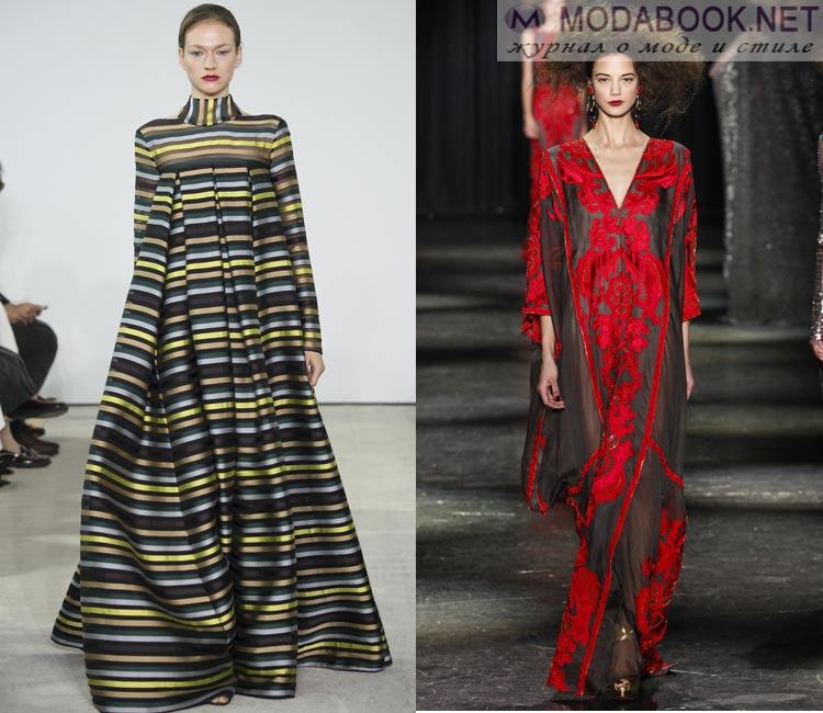 Модные платья осень - зима 2016 - 2017:  платья оверсайз