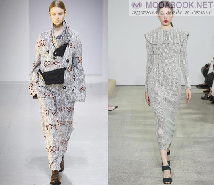 Модные платья осень - зима 2016 - 2017:  теплые платья