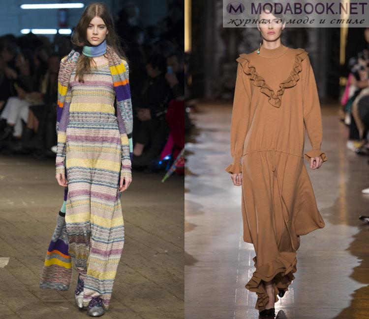 Модные платья осень - зима 2016 - 2017: зимние платья