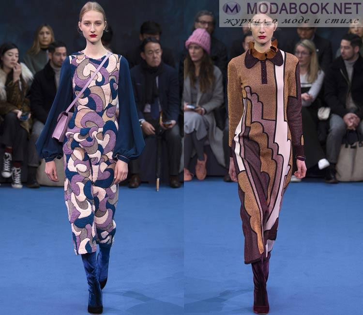 Модные платья осень - зима 2016 - 2017: теплые зимние платья