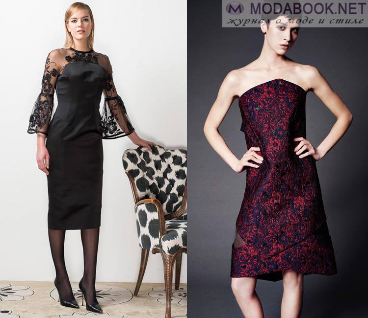 Модные платья осень - зима 2016 - 2017: коктейльные платья на вечер