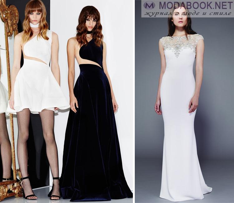 Модные платья осень - зима 2016 - 2017: вечерние платья