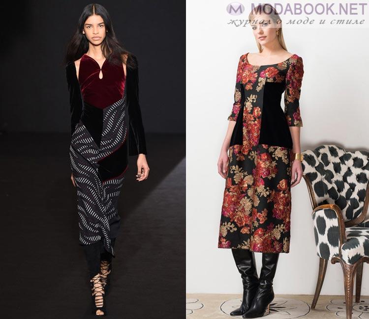 Модные платья осень - зима 2016 - 2017: длинна миди