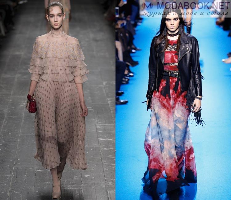 Модные платья осень - зима 2016 - 2017: шифоновые