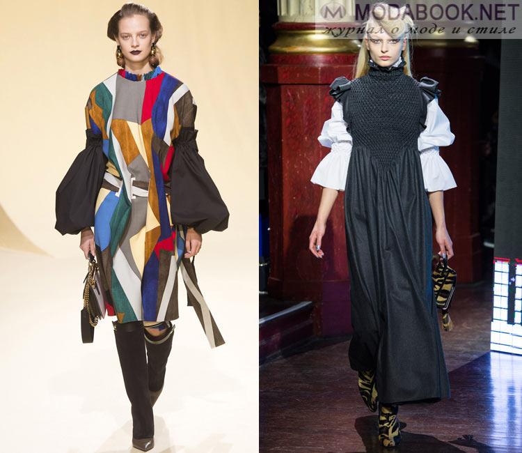Модные платья осень - зима 2016 - 2017: акцент на рукава