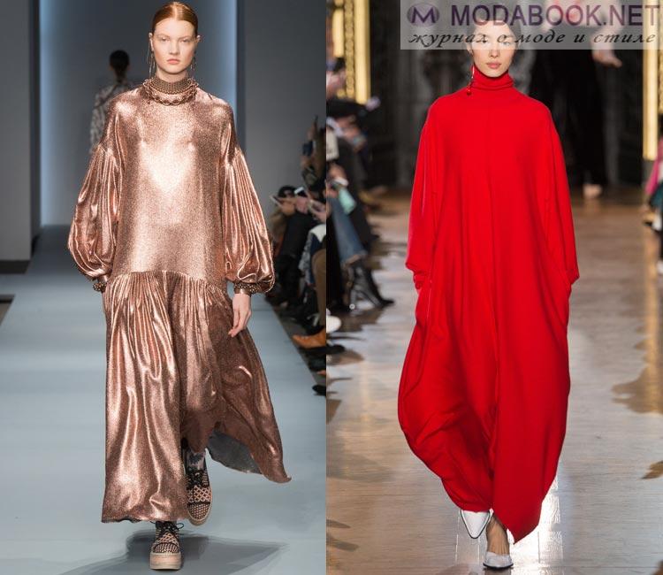 Модные платья осень - зима 2016 - 2017:  оверсайз