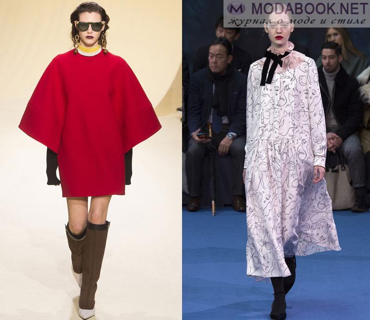 Модные платья осень - зима 2016 - 2017: свободный крой