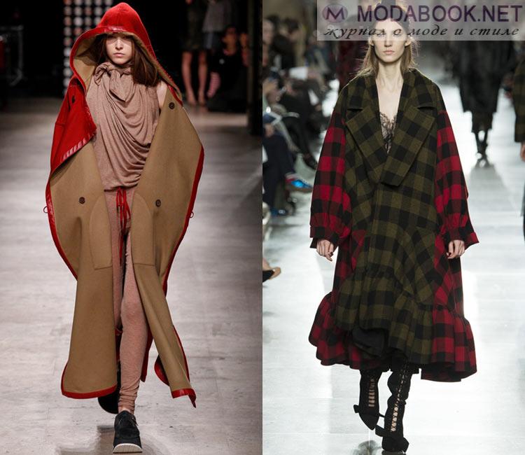Модные женские пальто осень-зима 2016-2017: оверсайз