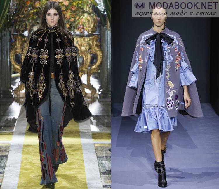 Модные женские пальто осень-зима 2016-2017:  кейп