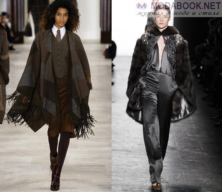 Модные женские пальто осень-зима 2016-2017:  накидка-кейп