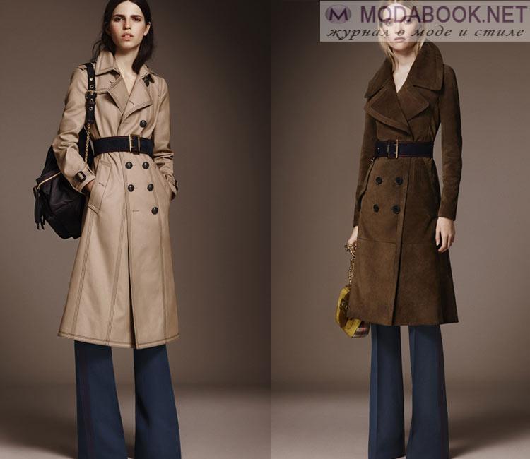 Модные женские пальто осень-зима 2016-2017:  из кожи