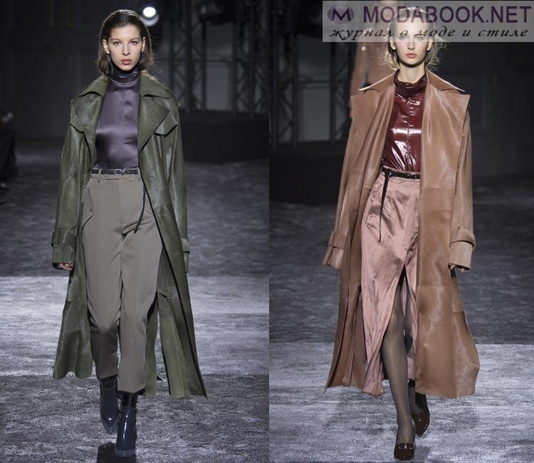Модные женские пальто осень-зима 2016-2017:  замша