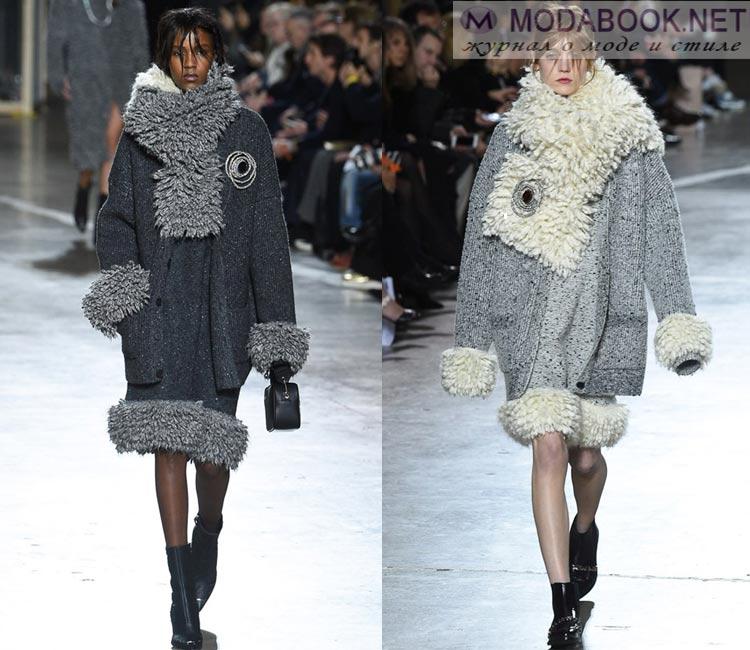 Модные женские пальто осень-зима 2016-2017:  вязанные