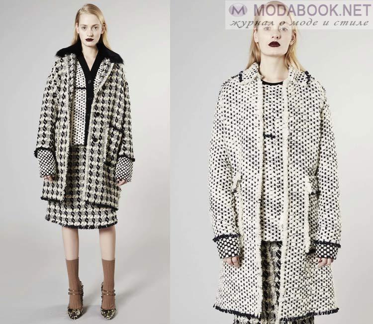 Модные женские пальто осень-зима 2016-2017:  вязанное