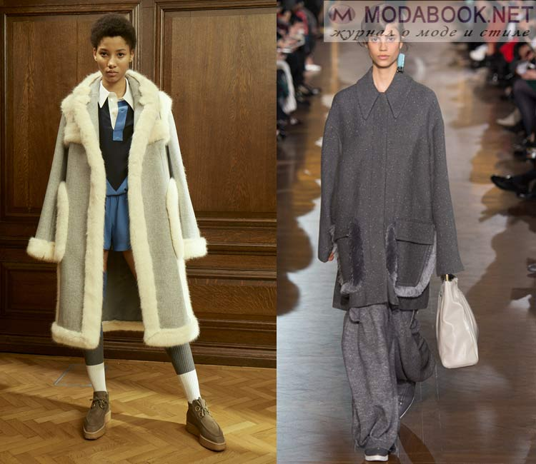 Модные женские пальто осень-зима 2016-2017:  с меховыми отделками