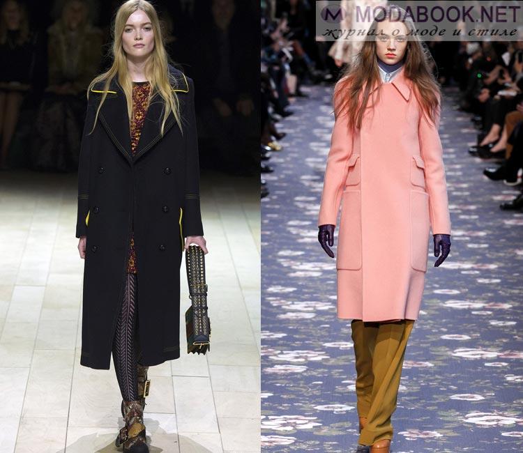 Модные женские пальто осень-зима 2016-2017:  классика
