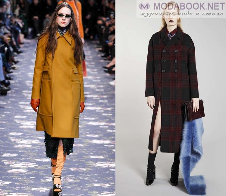 Модные женские пальто осень-зима 2016-2017:  классическое