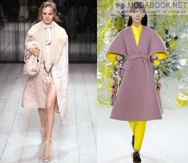 Модные женские пальто осень-зима 2016-2017: пастельная гамма