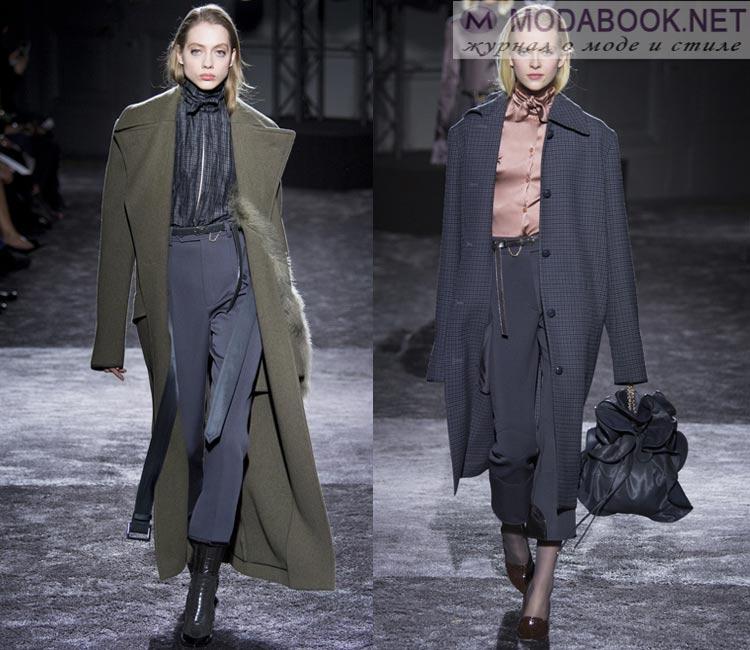 Модные женские пальто осень-зима 2016-2017: хакки, серый
