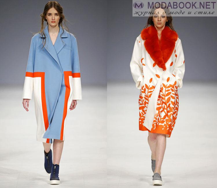 Модные женские пальто осень-зима 2016-2017: принты
